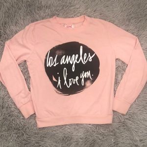 Pink Soft Los Angeles Pull Over Sweater